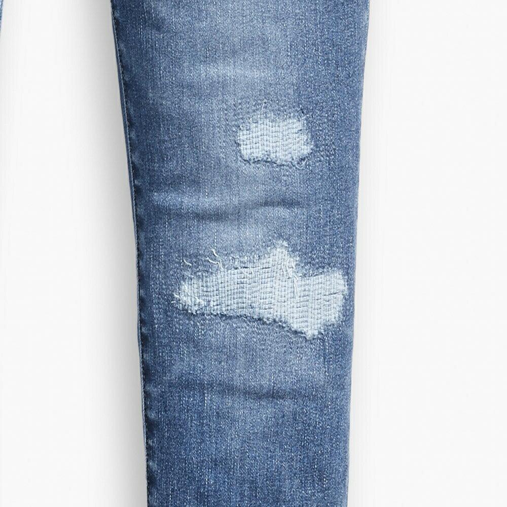 Levis 女款 720 高腰超緊身窄管 超彈力牛仔褲  /  Sorbtek保暖纖維  /  Warm Jeans內刷毛  /  破壞縫補  /  彈性布料 W 8