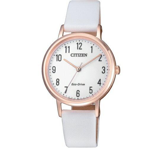 方采鐘錶:CITIZEN星辰LAD'S知性優雅光動能女錶EM0579-14A