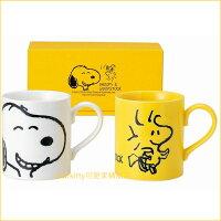史努比Snoopy商品推薦,史努比馬克杯推薦到asdfkitty可愛家☆日本金正陶器 史努比與糊塗塔克陶瓷對杯/馬克杯-629700-日本製
