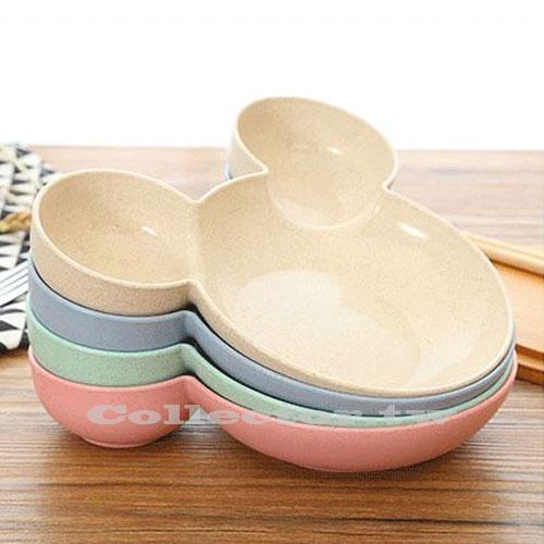 【N17030901】小麥秸稈兒童餐盤 小兔子卡通快餐盤 餃子盤 分格餐具 輔食餐具