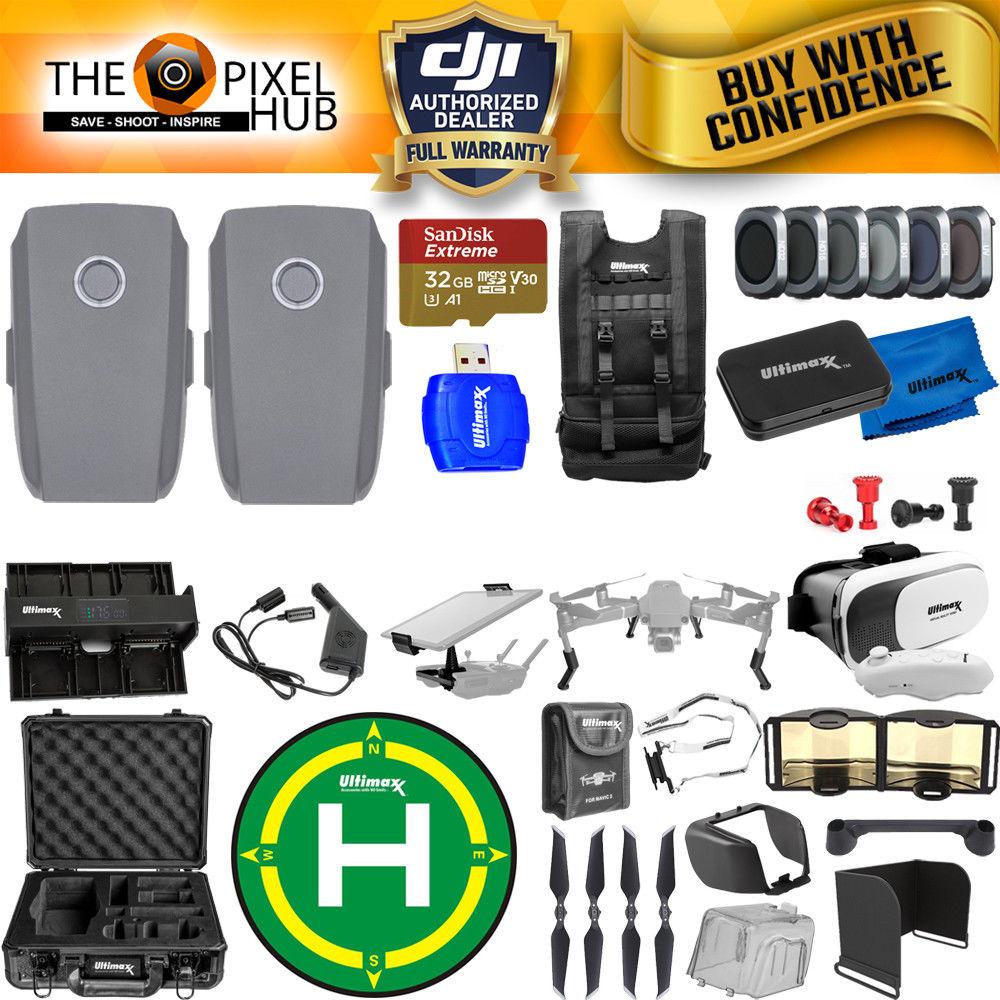 c701a16ea15 DJI Mavic 2 Pro Accessory Kit Includes 2 Batteries Aluminum Case Filter kit  32GB Sandisk Memory