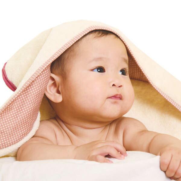 ollobaby瓦吉司 - Nizio - 多功能成長型浴巾 (藍綠點點) 1
