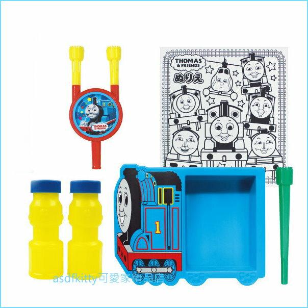 asdfkitty可愛家☆湯瑪士小火車造型盤吹泡泡玩具組-日本製