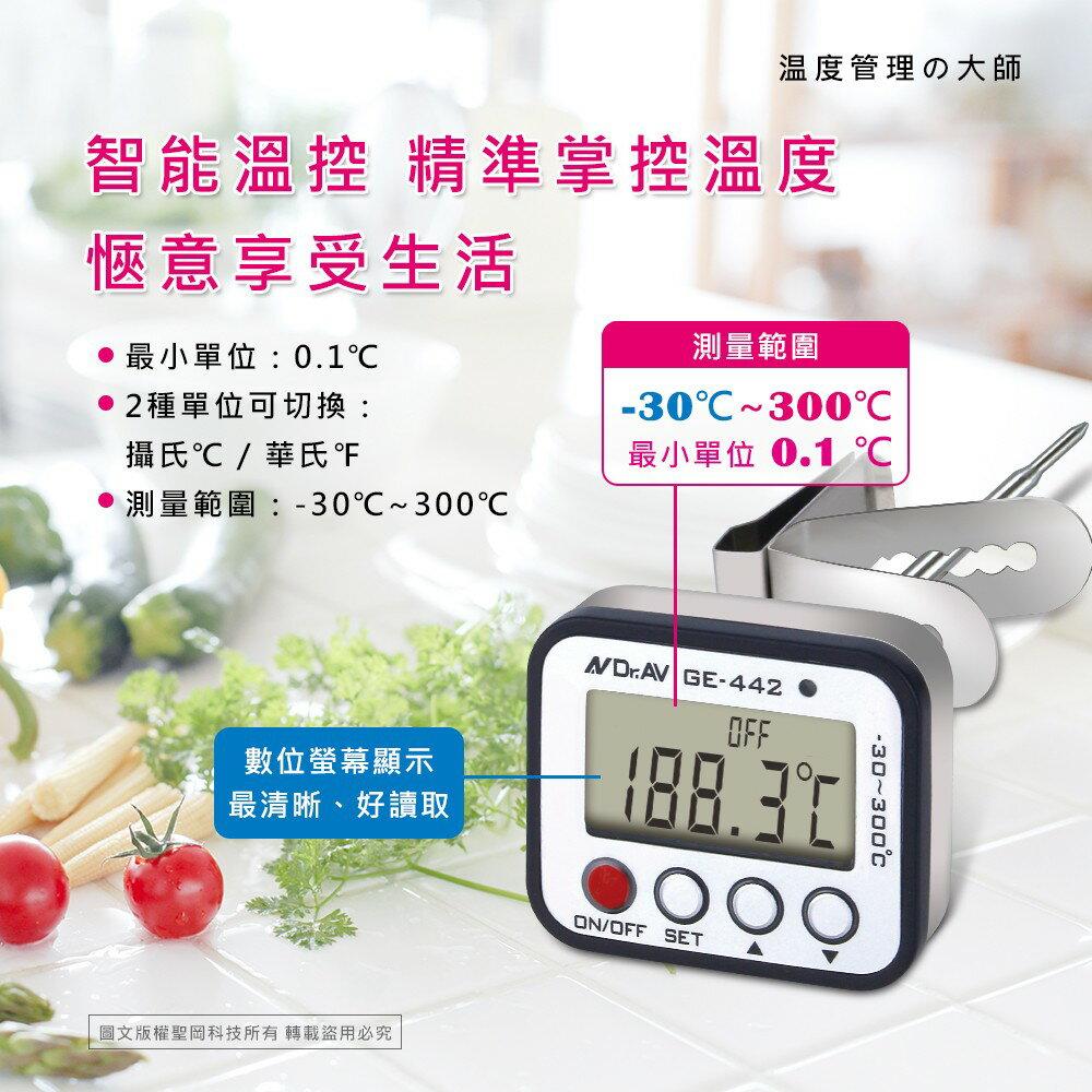 聖岡科技 全防水 溫度計 智能溫控 304不鏽鋼探針 測溫快速精準【GE-442】