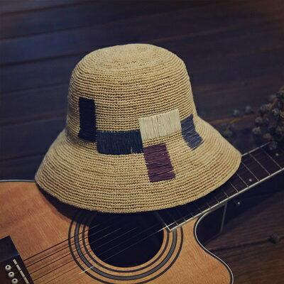 草帽手工編織漁夫帽-時尚有型戶外休閒女遮陽帽73si28【獨家進口】【米蘭精品】