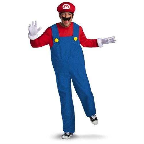 Super Mario Bros Deluxe Mario Costume Adult 0