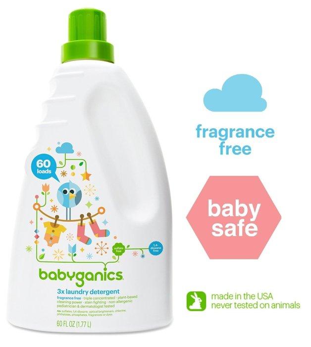 ~彤彤小舖~Babyganics 嬰兒3倍濃縮洗衣精系列 60oz 1.77L 無香味 薰