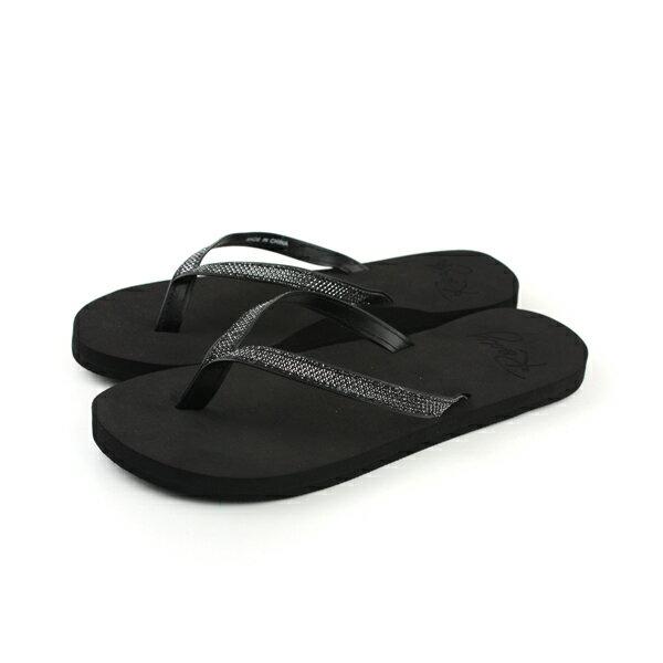 ROXY 夾腳拖 拖鞋 黑色 女鞋 no024