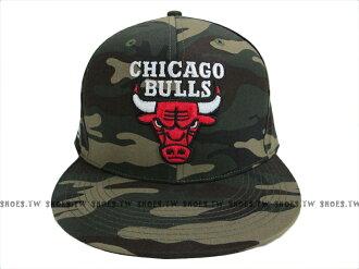 Shoestw【8531304-010】NBA 運動帽 棒球帽 調整帽 潮流帽 芝加哥 公牛隊 綠迷彩系列