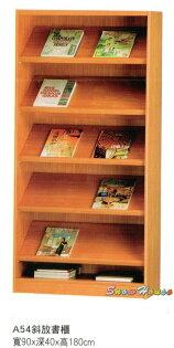 ╭☆雪之屋居家生活館☆╯AA555-12A54斜放書櫃書報架雜誌架收納架