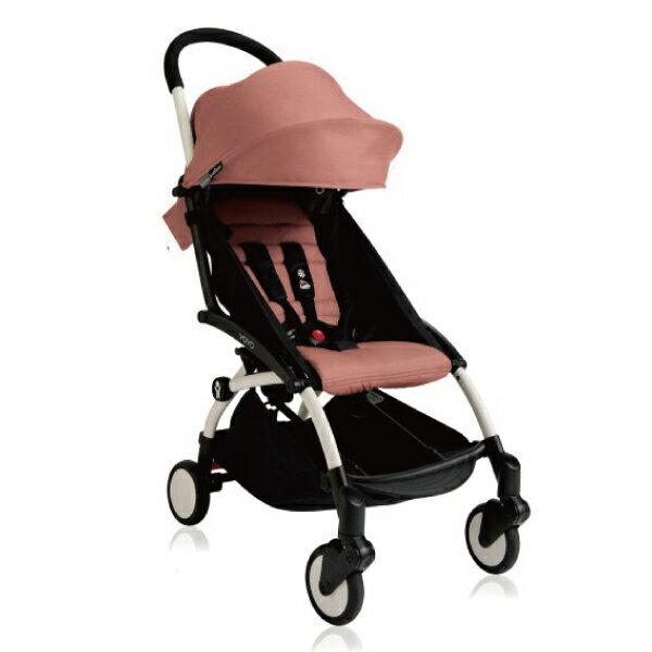 【現貨-第3代】法國 BABYZEN YOYO plus / YOYO+ 6m+嬰兒手推車(白骨架) 粉色 0