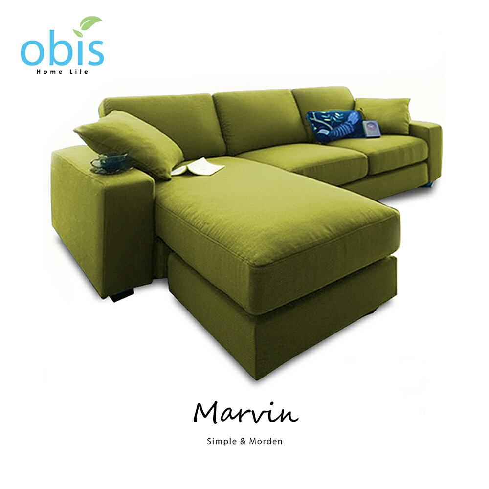 MARVIN 自然風獨立筒L型布沙發【obis】好窩生活節 3