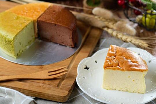 【輕。乳酪】六吋蛋糕│蛋奶素 原味/抹茶/巧克力/紅麴 軟綿綿像雲朵般的口感,蛋糕體細膩、輕盈、鬆軟又濕潤!280克±5%/盒 1
