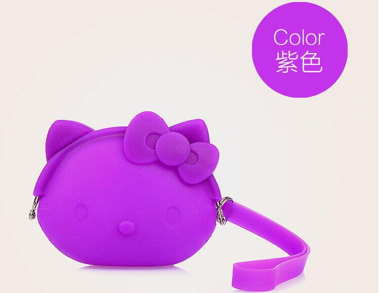 《喨晶晶生活工坊》紫色 Hello Kitty零錢包可愛卡通超萌帶手繩軟質硬幣包