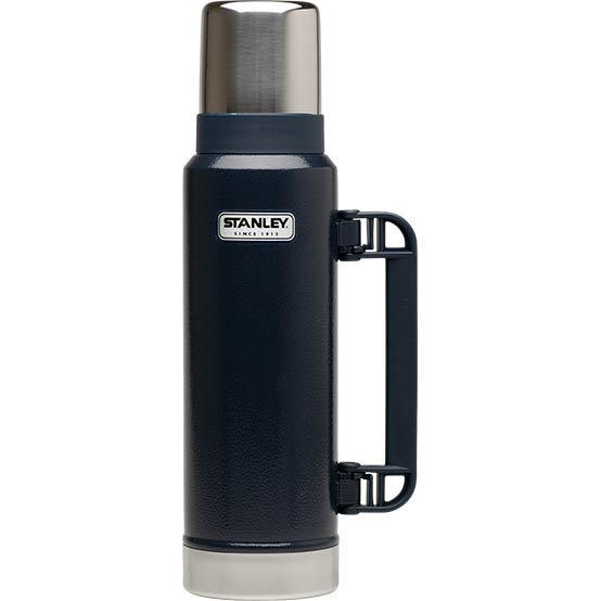 【【蘋果戶外】】Stanley 1001032 美國 百年歷史 經典真空保溫瓶 1.3L 錘紋藍 保溫食物杯 保溫食物罐
