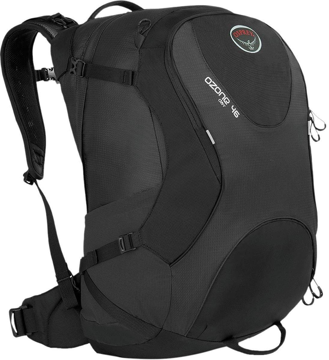 Osprey 登機包/行李袋/旅行包/旅遊行李後背包 Ozone Travel Pack 46 肩帶可收納 黑/台北山水