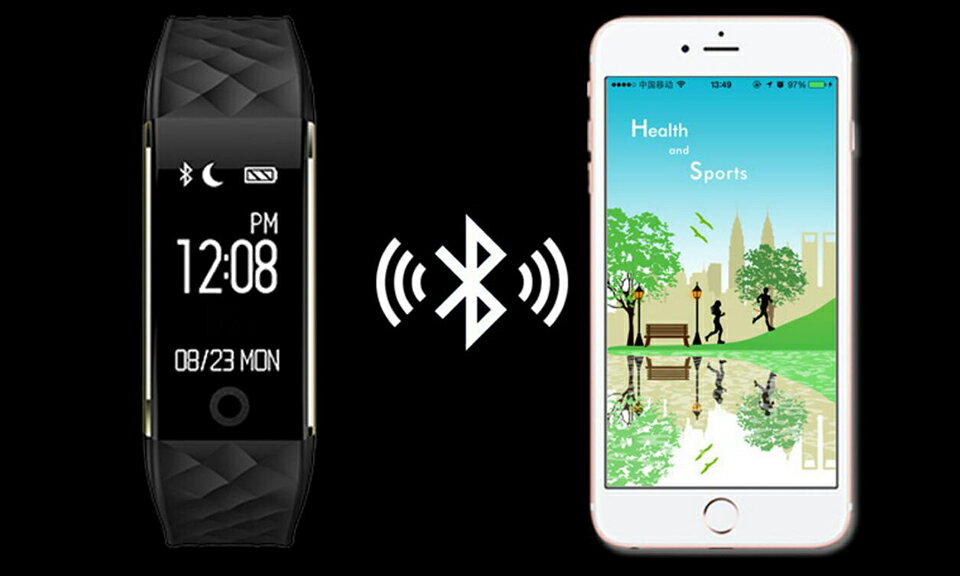 S2 Smart Band Bluetooth 4 0 Fitness Tracker Heart Rate Monitor Smart  Brecelet Wristband For IOS Android PK Fitbit and miband 2