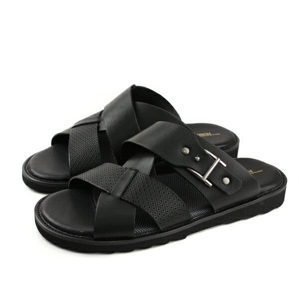 HUMANPEACE拖鞋黑色男鞋13-2217-90no118