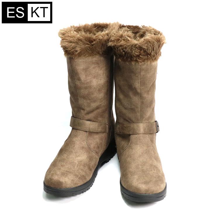 ESKT 女中筒雪鞋SN225  城市綠洲 (雪靴、防潑水、刷毛、冰爪) 4