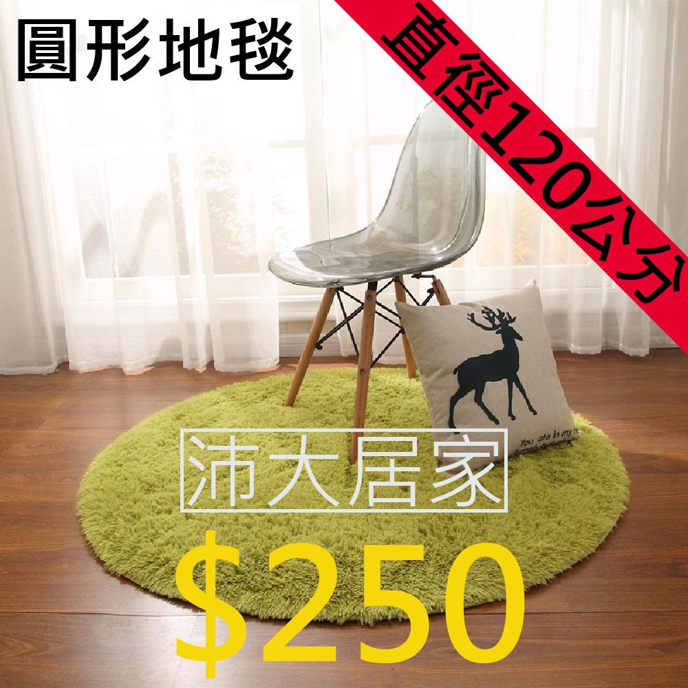 《沛大建材》$250 直徑120公分 圓形絲毛地毯 圓形地毯 北極絨 長絨毛 加厚 防滑 【B17】