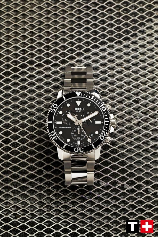 TISSOT 天梭 T1204171105100 SEASTAR海洋之星潛水錶 小鬼配戴款 黑 鋼帶 45.5mm 2