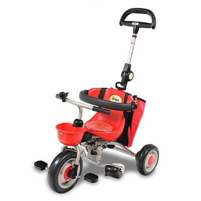 IDES日系品牌 第3代~新寶寶摺疊三輪背包車~紅