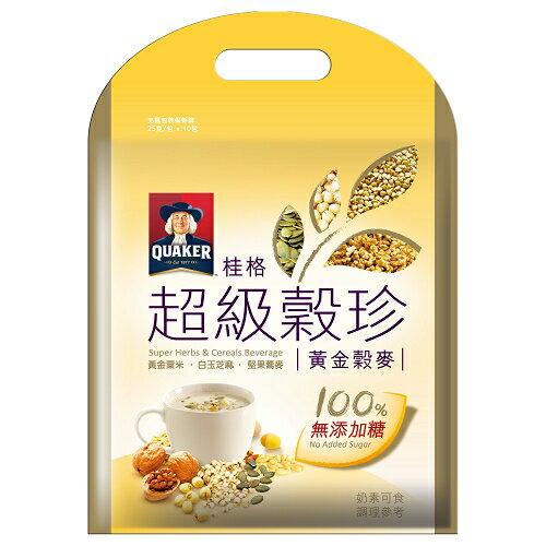 桂格超級無糖穀珍 - 黃金穀珍 30g*10入/袋【愛買】