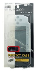 SONY PSP 3000 3007 TB 副廠果凍套 矽膠套 保護套 白色【台中恐龍電玩】