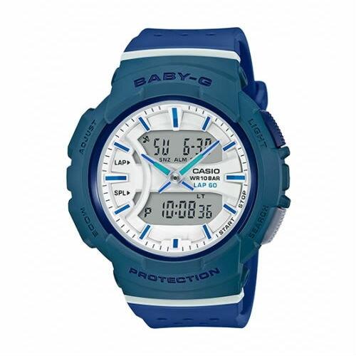 CASIOBABY-GBGA-240-2A2運動服靈感透氣雙顯流行腕錶