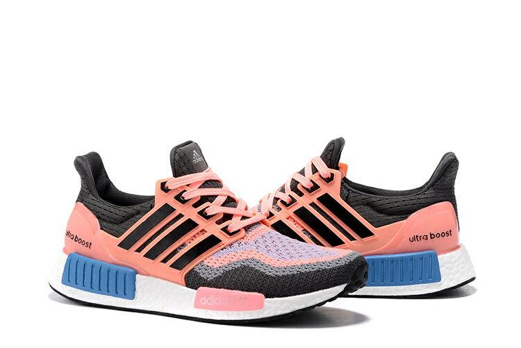 Adidas NMD Ultra Boost 休閒跑鞋 粉橘黑 女款