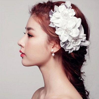 髮箍髮帶鑲鑽頭飾~ 清新氣質花朵情人節生日 女飾品73ex11~ ~~米蘭 ~