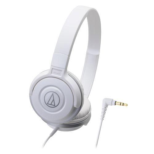 鐵三角ATH-S100白潮流DJ款可摺疊耳罩式耳機【愛買】