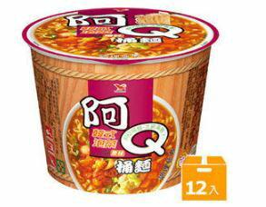 阿Q桶麵韓式泡菜風味(12碗箱)【合迷雅好物商城】