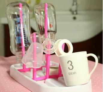 【省錢博士】創意可折疊收縮奶瓶瀝水架乾燥架廚房瀝水架 59元 - 限時優惠好康折扣