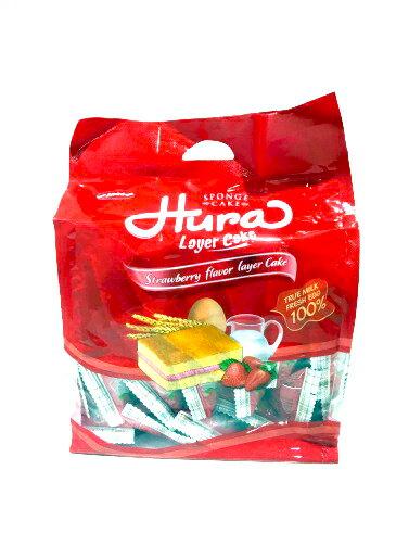 HURA 夾心蛋糕 390g (香草椰子、鮮奶油、草莓牛奶) 2