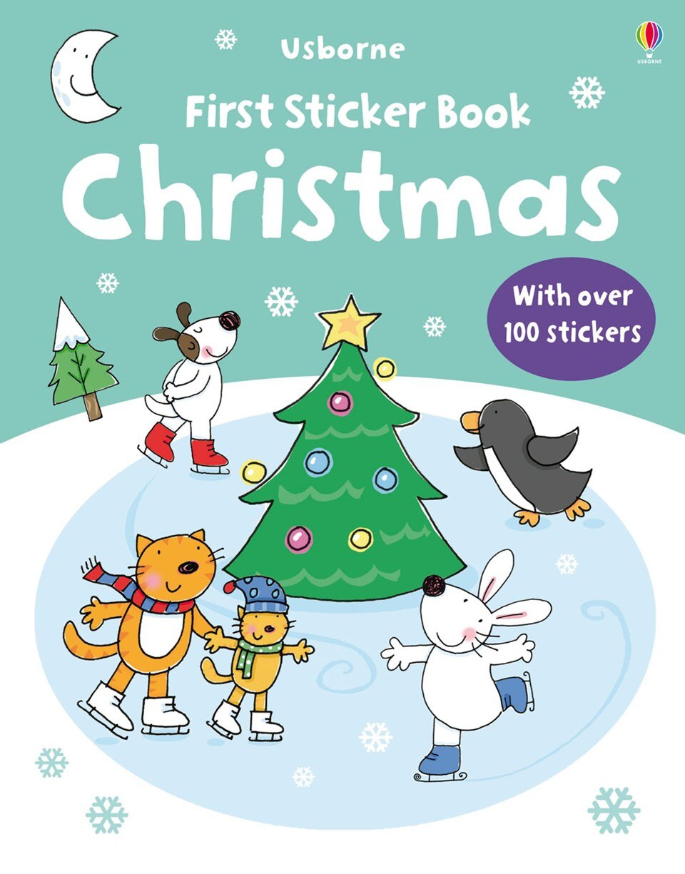 Usborne Make a Picture Sticker Book 貼紙書 Chris