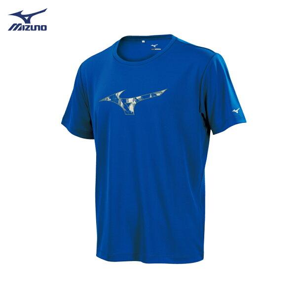 32TA850920(深藍)抗紫外線UPF50短袖T恤【美津濃MIZUNO】