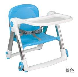 【淘氣寶寶】英國 Apramo Flippa dining booster 可攜式兩用兒童餐椅(QTI)-藍色【贈送原廠兩用提袋+香草奶嘴】【總代理公司貨】
