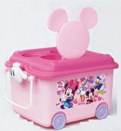 日本原裝 兒童玩具滾輪收納箱(米妮)#312584