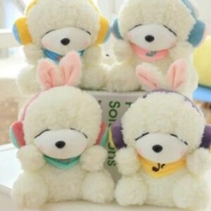 美麗大街【HB20160510】創意帶耳罩韓國兔公仔系圍巾萌兔毛絨玩具女生日禮物