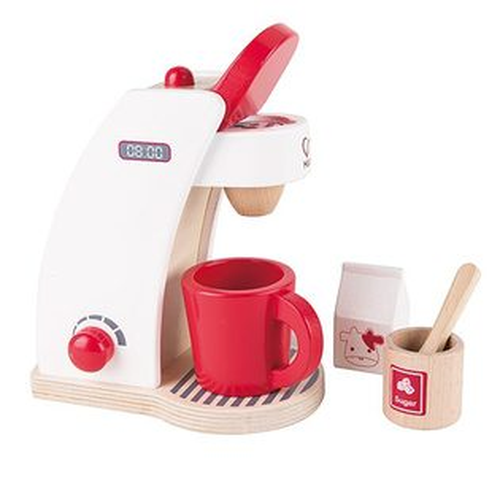 東喬精品百貨商城:【免運費】《德國Hape愛傑卡》咖啡製作機-紅白限量版