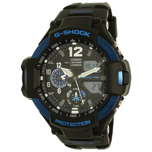 Casio G GravityMaster GA1100-2B Navy Blue / Navy Blue Resin Analog / Digital Quartz Men's Watch 0