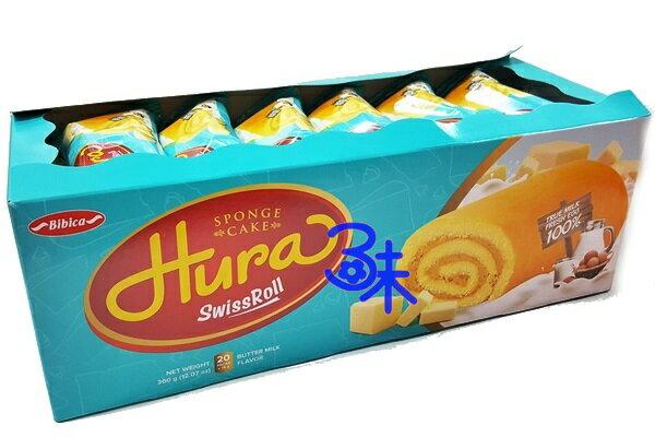 (越南) HURA 迷你瑞士捲鮮奶油味 迷你蛋糕捲 1盒360公克 1盒360公克(20入) 特價 83 元 【8934609602605 】