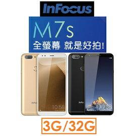 鴻海富可士InFocus5.7吋3G32G4GLTE智慧型手機18:9單卡機美顏3.5mm