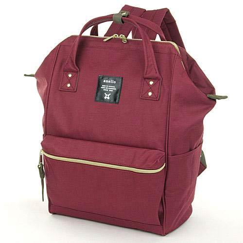 anello 酒紅色 日本帶回正版 帆布水洗 大後背包 寬27×高40×厚14cm