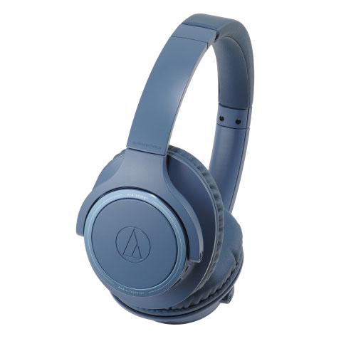 鐵三角 無線耳罩式耳機ATH-SR30BT-藍【愛買】