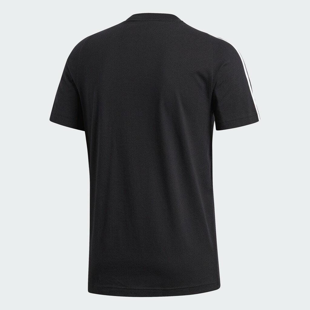 18SS ADIDAS 男款 短袖 網球T恤 ESS 3S TEE系列 S98717 黑色【樂買網】