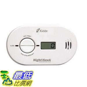 [7美國直購] 乾電池式一氧化碳偵測器含LCD顯示 Kidde (21007267) KN-COPP-B-LS 900-0230 Nighthawk Carbon Monoxide Alarm