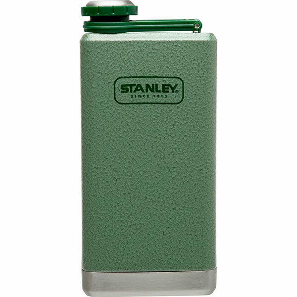 ├登山樂┤ 美國 Stanley SS Flask 經典酒壺 0.24L - 錘紋綠 #10-01564-001