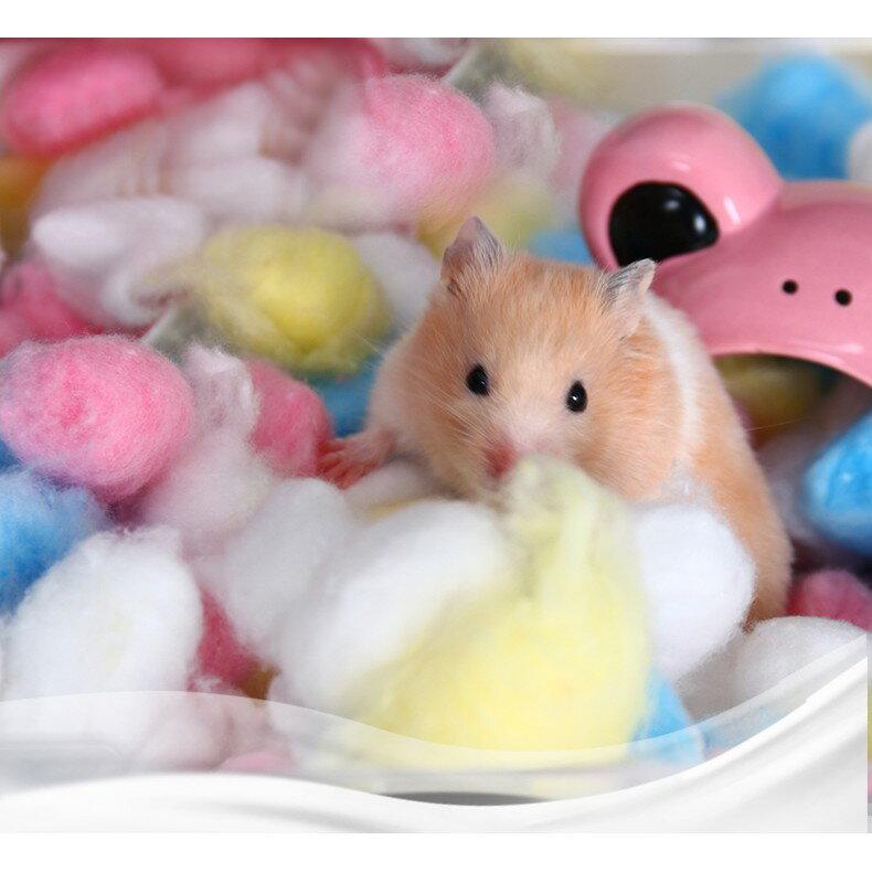 zoog倉鼠保暖棉花脫脂棉被棉窩棉球龍貓兔子刺猬過冬倉鼠用品
